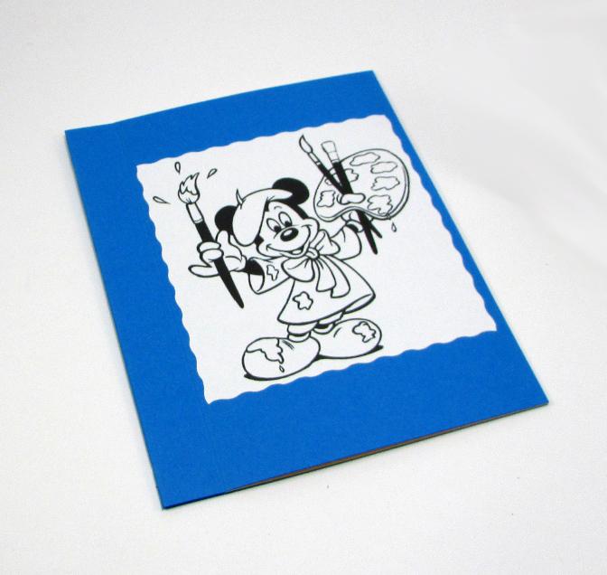 Livro de tamanho A6, com 7 imagens para colorir